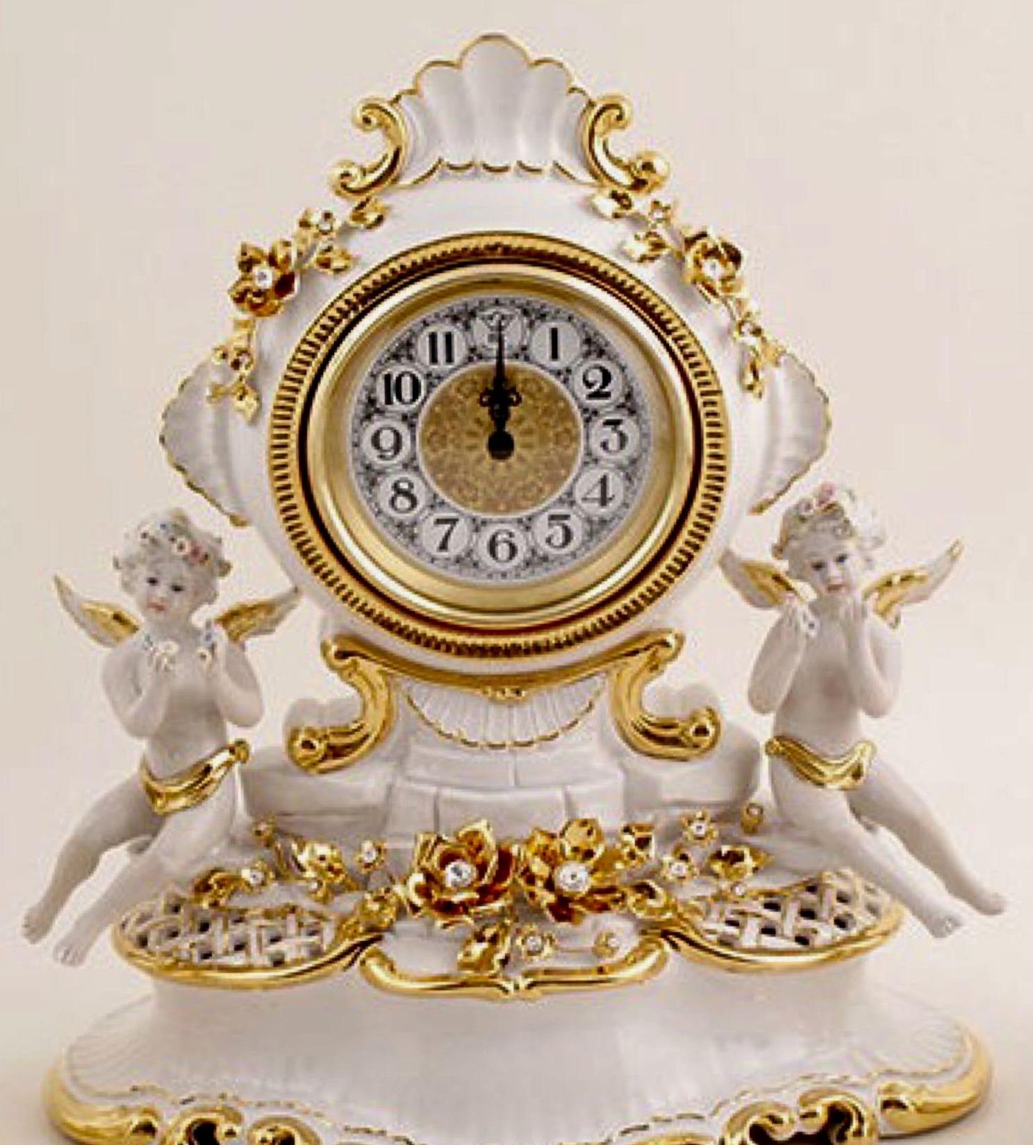 Часы настольные GOLD FLOWERS от Bruno Costenaro