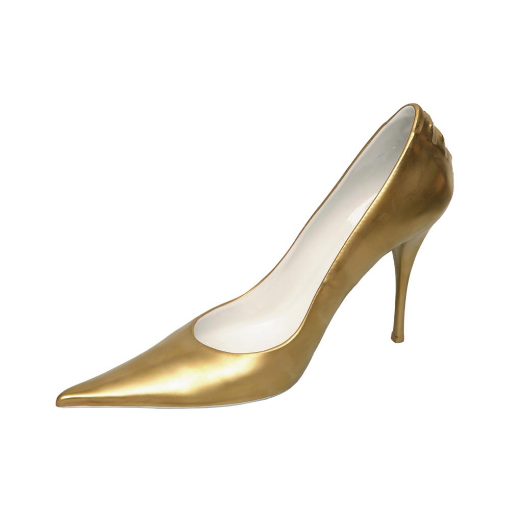 Статутэтка золотой туфельки фарфор от Rudolf Kampf