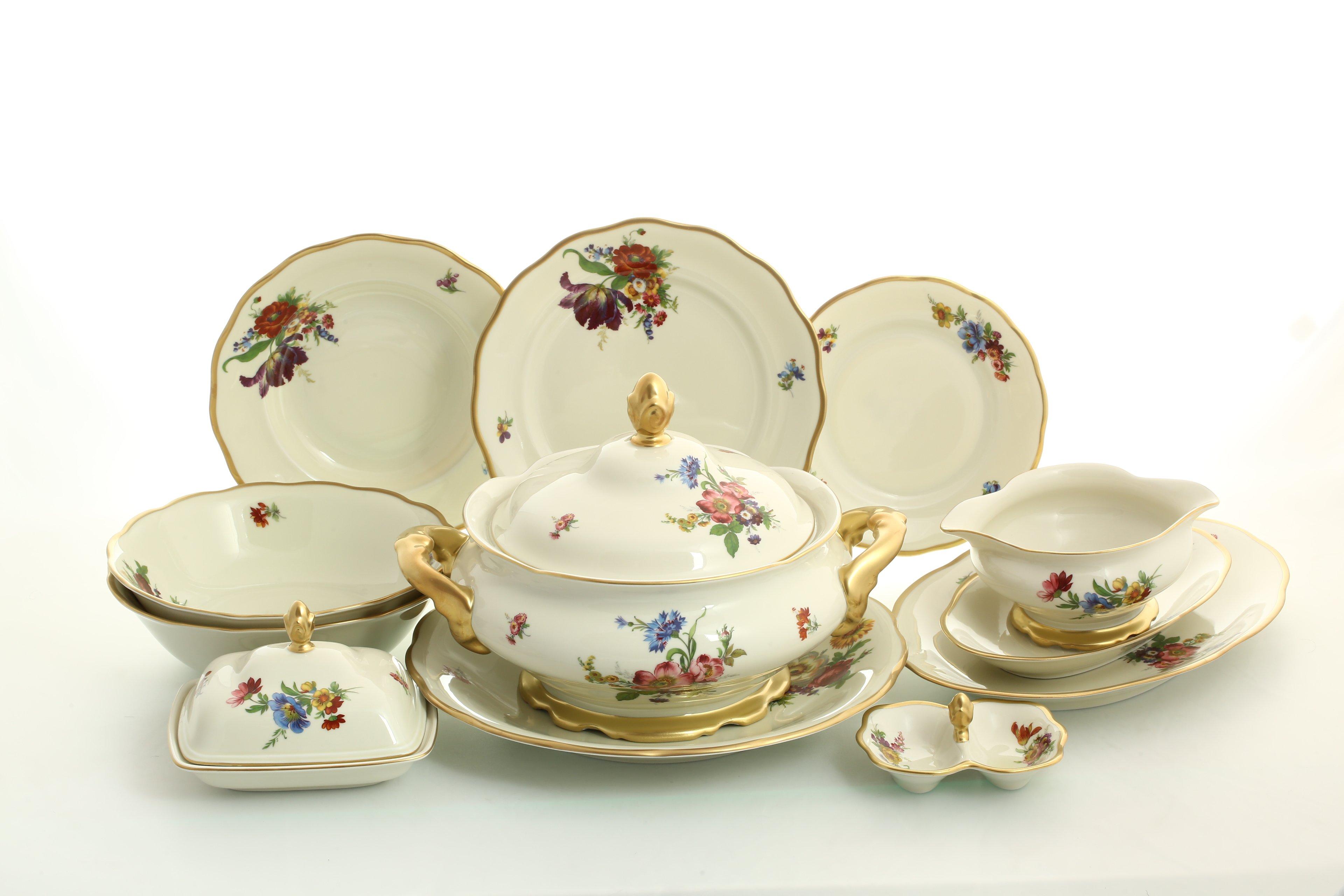 Столовый сервиз ФРУКТЫ от Sterne Porcelan на 6 персон