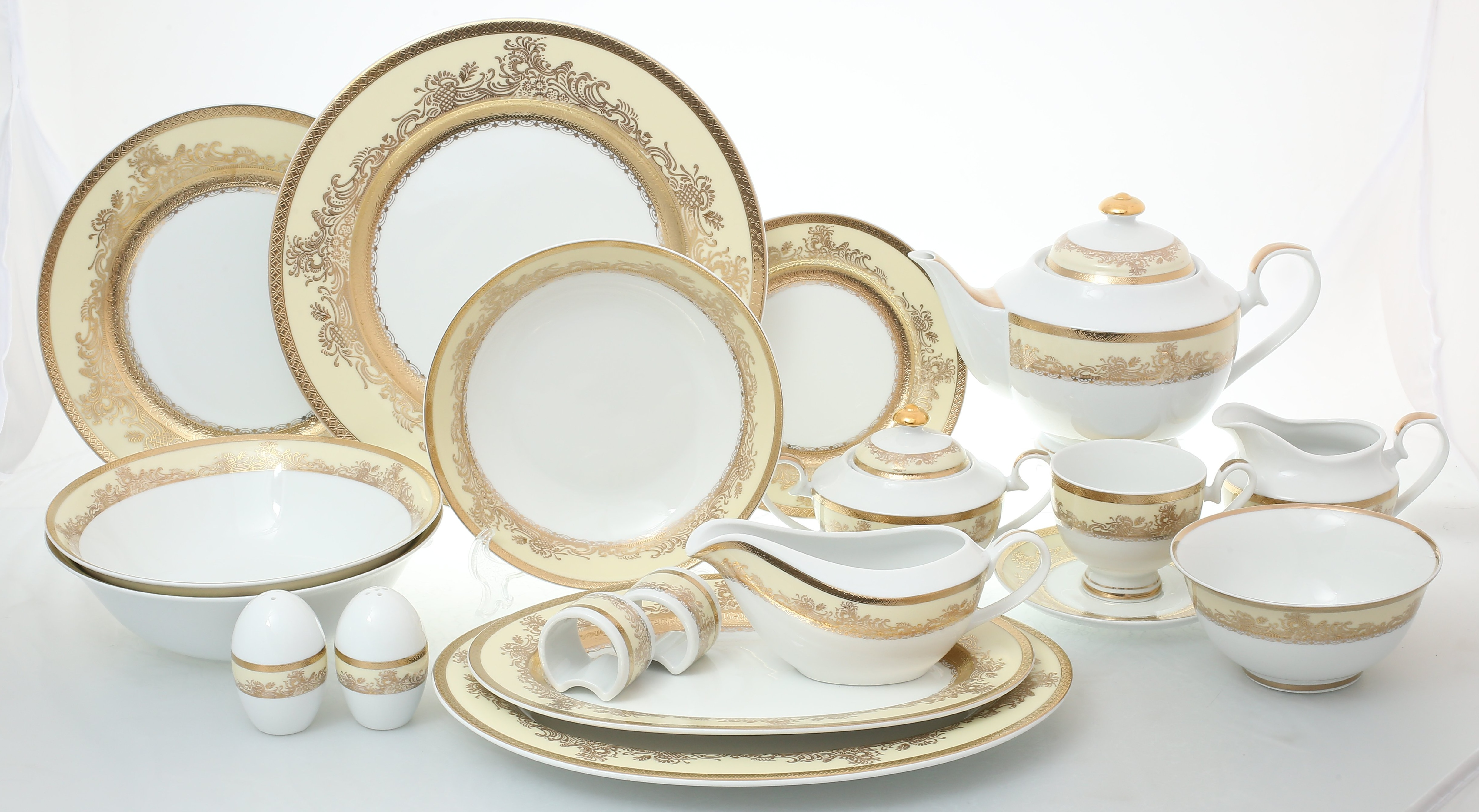 Столово-чайный сервиз АДЕЛИНА CREAM от Royal Classics