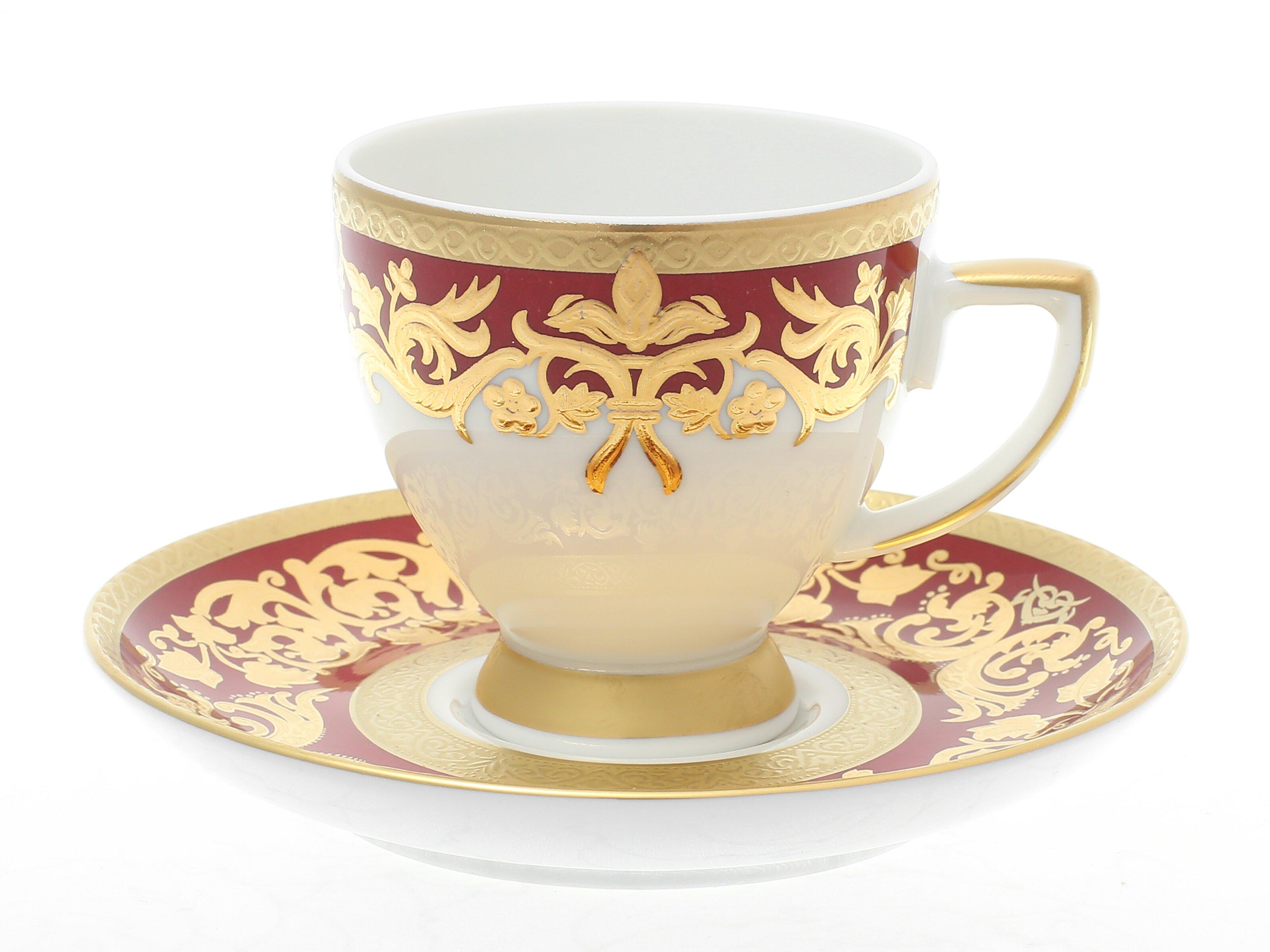 Кофейные пары NATALIA BORDEAUX GOLD от Falkenporzellan