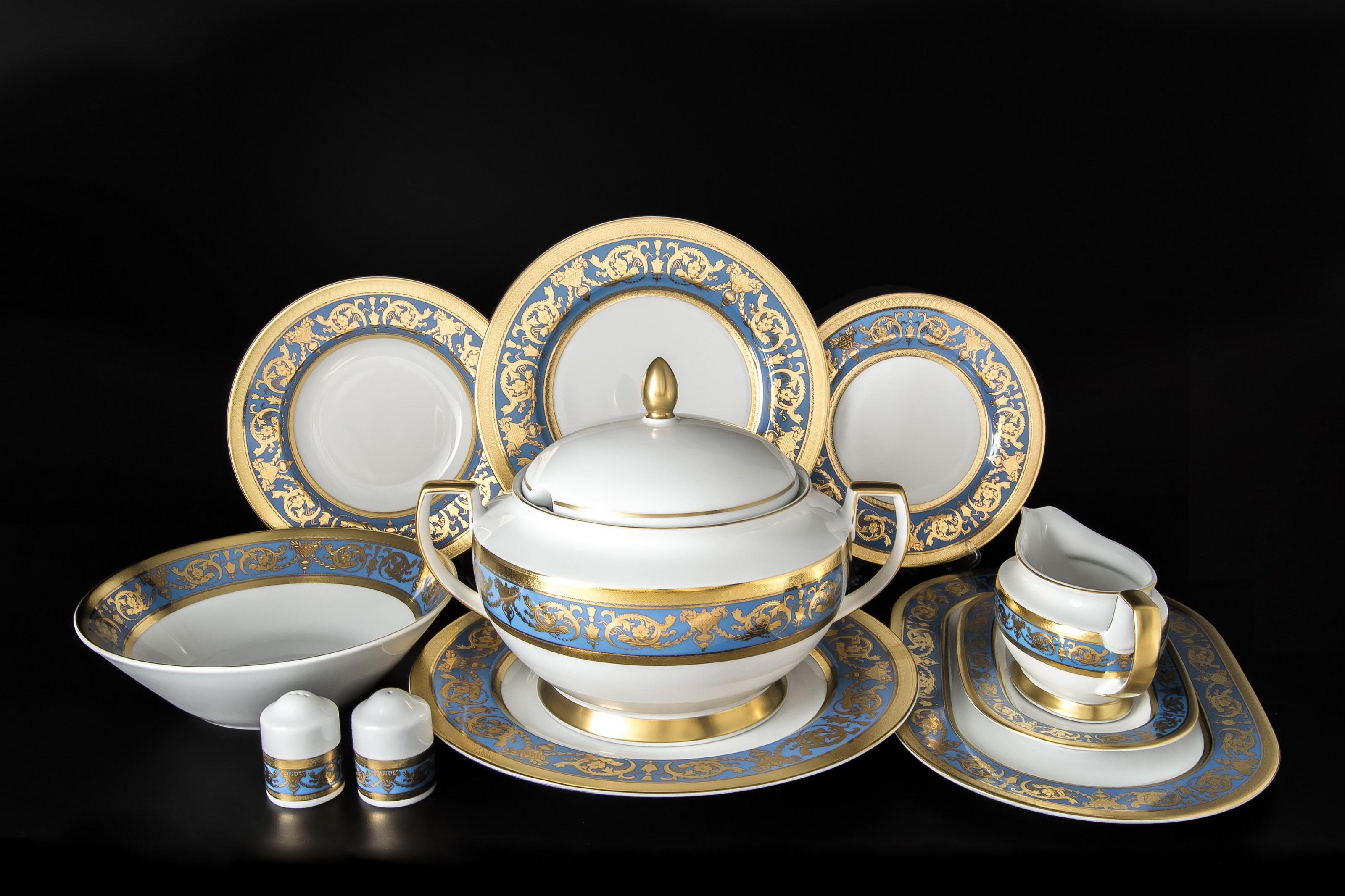Столовый сервиз IMPERIAL BLUE GOLD от Falkenporzellan