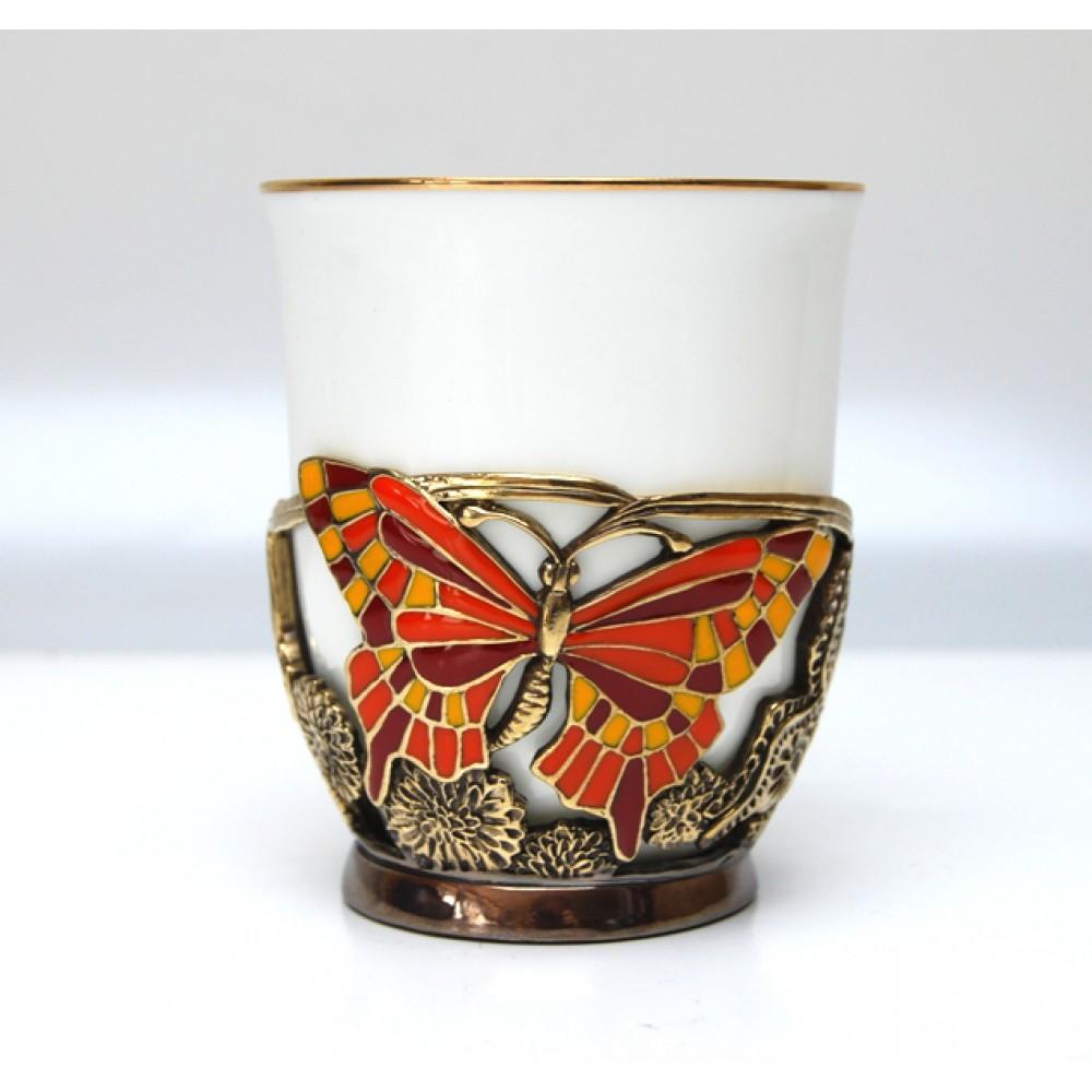 Чашка БАБОЧКИ от Zlatoust