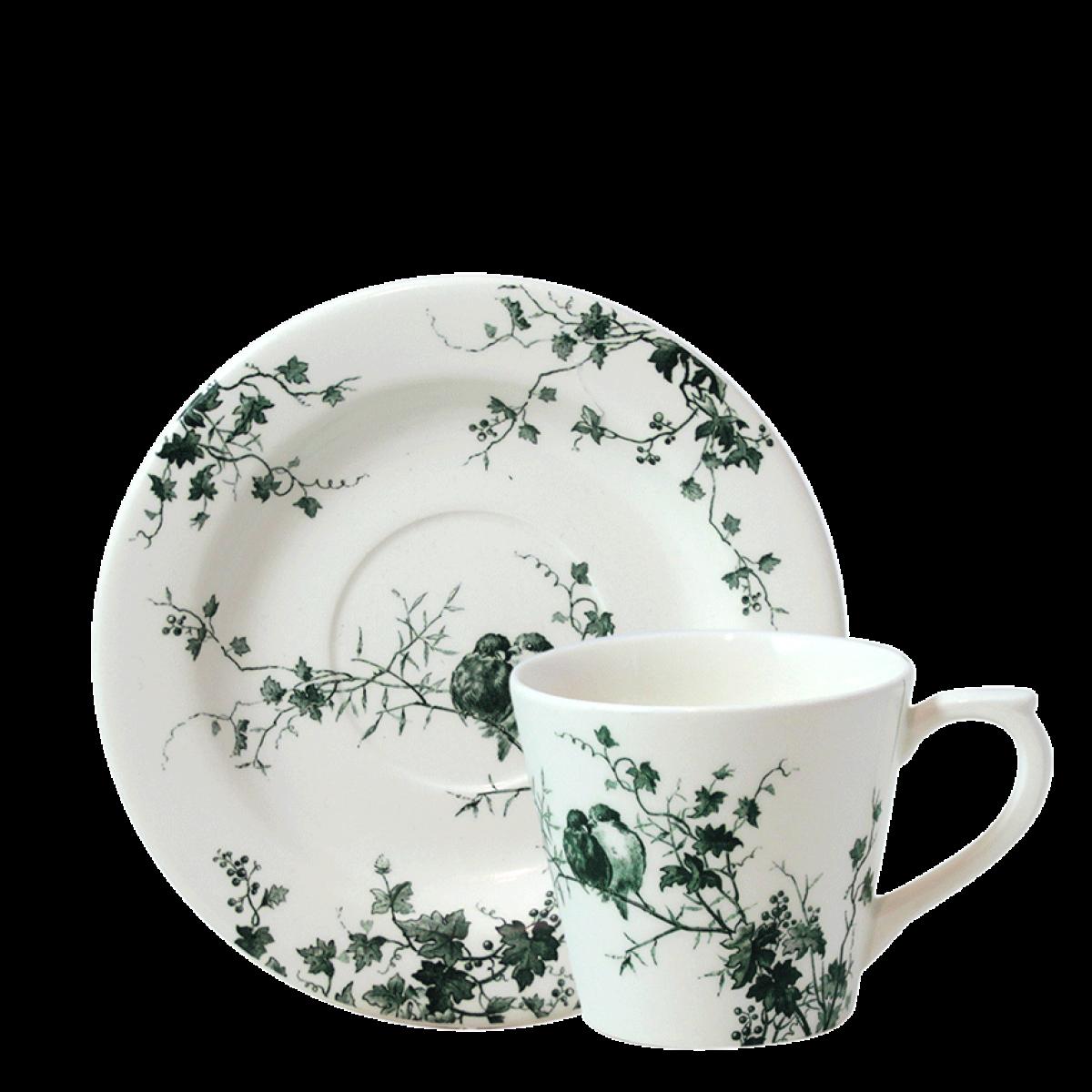 Чашка и блюдце для чая ПТИЦЫ от Gien