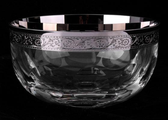 Конфетница 12 см ДЖЕССИ ПЛАТИНА от Kvetna, стекло
