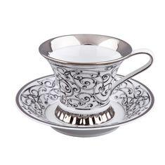Чашка высокая 200 мл с блюдцем ВИЗАНТИЯ (Byzantine) C936