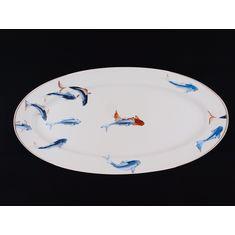 Большое овальное рыбное блюдо РЫБЫ