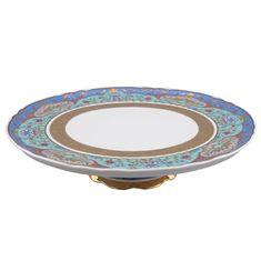 Тарелка для торта 26 см на ножке National Traditions 2025, серия ИЕРУСАЛИМ