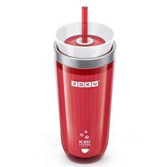Стакан для приготовления кофе со льдом iced coffee maker красный