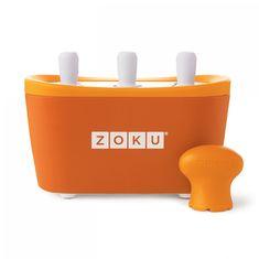 Форма для замороженного сока quick pop maker оранжевая