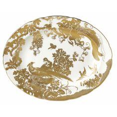 Блюдо овальное 34.5 см AVES GOLD