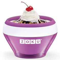 Мороженица ice cream maker фиолетовая