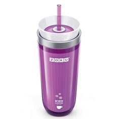 Стакан для приготовления кофе со льдом iced coffee maker фиолетовый