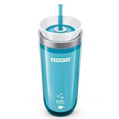 Стакан для приготовления кофе со льдом iced coffee maker голубой