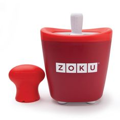 Форма для замороженного сока single quick pop maker красная