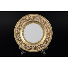 Набор тарелок 21 см ALENA 3D CREME GOLD CONSTANZA