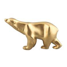 Фигурка большого медведя от Rudolf Kampf, цвет - матовое золото