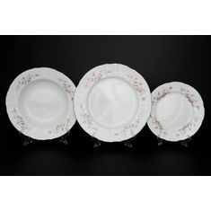 Набор тарелок СЕРАЯ РОЗА ПЛАТИНА от Bernadotte