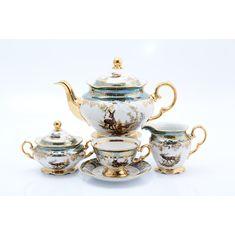 Чайный сервиз ОХОТА ЗЕЛЕНАЯ от Queens Crown