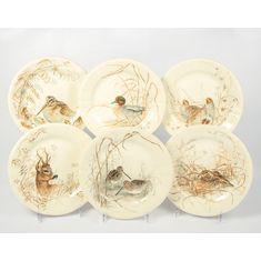 Набор тарелок десертных ОХОТА (ДИЧЬ) от Gien