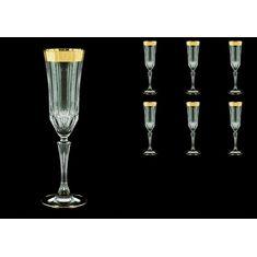Набор фужеров для шампанского ADAGIO ANTIQUE GOLDEN CLASSIC DECOR от Astra Gold