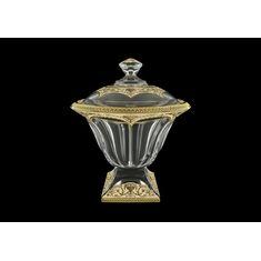 Конфетница с крышкой PANEL FLORA'S EMPIRE GOLDEN от Astra Gold