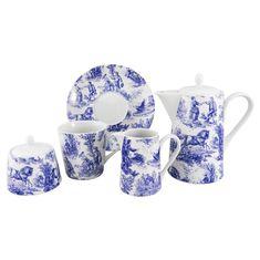 Чайный сервиз ПАСТОРАЛЬ (Pastorale), бело-синий, от Rudolf Kampf
