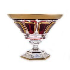 Ваза для конфет на ножке АНТИК РУБИН от Arnstadt Kristall