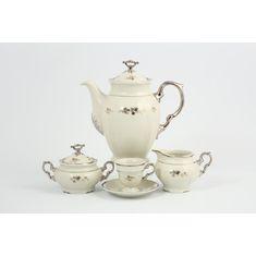 Кофейный сервиз МАРИЯ-ЛУИЗА ivory-серебро, декор 8800410, от Thun 1794 a.s.