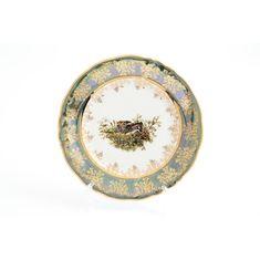 Тарелки ОХОТА ЗЕЛЕНАЯ расцветка от Queens Crown (Prince Porcelain)