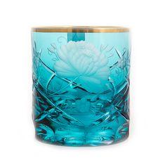 Набор стаканов РОЗА, бирюза, от Arnstadt Kristall