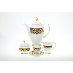 Кофейный сервиз NATALIA COBALT GOLD от Falkenporzellan
