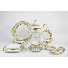Сервиз фарфоровый чайный СИМФОНИЯ ЗОЛОТАЯ от Weimar Porzellan на 6 персон, 30 предметов
