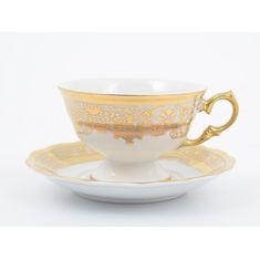 Набор чайных пар ALASKA CREAM zoloto от Carlsbad