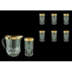 Кувшин с шестью стаканами ADAGIO ANTIQUE GOLDEN CLASSIC DECOR от Astra Gold