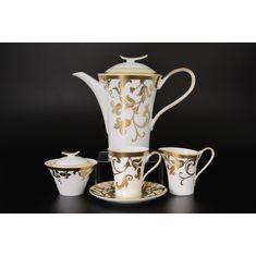 Чайный сервиз TOSCA CREME GOLD от Falkenporzellan на 6 персон