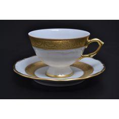 Набор чайных пар 100 мл МАРИЯ-ЛУИЗА, декор - матовая полоса, от Carlsbad на 6 персон