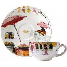 Чашка и блюдце для завтрака ИНДИЯ от Gien