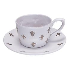Большая чайная пара с платиновыми лилиями от Evgeniya Kryukova
