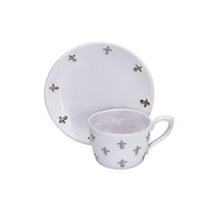 Средняя чайная пара с платиновыми лилиями от Evgeniya Kryukova