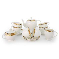Чайный сервиз ЗОЛОТАЯ ВЕТОЧКА от Akky на 6 персон