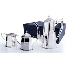 Набор для кофе из столового серебра ЭЛЕГАНТ в футляре от Аргента