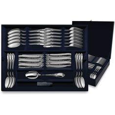 Набор десертных столовых приборов из серебра ФАВОРИТ в футляре от Argenta на 6 персон