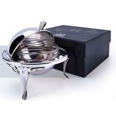 Масленка круглая из серебра 925-й пробы в футляре от Argenta