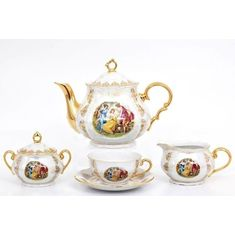 Чайный сервиз ВЕРОНА МАДОННА ПЕРЛАМУТР от Leander на 6 персон, 15 предметов