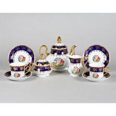 Сервиз чайный МЭРИ-ЭНН МАДОННА кобальт от Leander на 6 персон, 15 предметов
