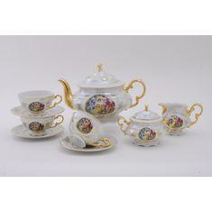 Сервиз чайный СОНАТА МАДОННА перламутр от Leander на 6 персон, 15 предметов