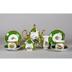 Сервиз чайный МЭРИ-ЭНН, ЦАРСКАЯ ОХОТА, от Leander на 6 персон, 15 предметов