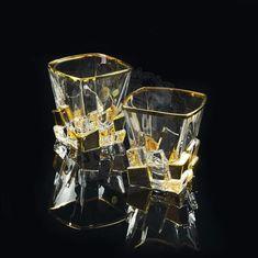 Стакан 300 мл для виски LORD от Migliore, 2 шт., хрусталь, золото