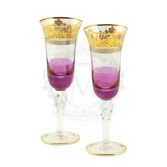Пара хрустальных бокалов для шампанского LUCIANA от Migliore